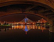 Mbta Prints - Zakim 01 Print by Jeff Stallard