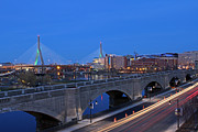 Charles River Framed Prints - Zakim Bridge and TD Garden Framed Print by Juergen Roth
