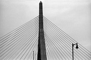 Boston Ma Prints - Zakim Bunker Hill Bridge I Print by Harold E McCray
