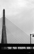 Boston Ma Prints - Zakim Bunker Hill Bridge III Print by Harold E McCray
