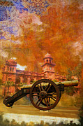 Iqra University Paintings - Zamzama Tope or Kims Gun by Catf
