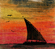 Slaves Paintings - Zanzibar Rapid Transport by R Kyllo