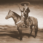 Emiliano Zapata Paintings - Zapata by Paco Leal