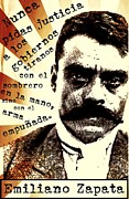Emiliano Zapata Framed Prints - Zapatismo Framed Print by Michelle Wilmot