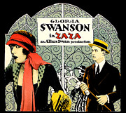 1920 Movies Art - Zaza Gloria Swanson by Gary Perron