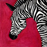 Gouache Digital Art - Zebra 1 by Stephanie Gerace