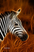Horse Unique Art. Posters - Zebra 2 Poster by The Feathered Lady