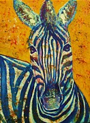Zoo Drawings Prints - Zebra Print by Anastasis  Anastasi