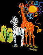 Shelley Overton - Zebra and the Giraffe