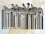 Vintage Map Digital Art - Zebra barcode by Sassan Filsoof