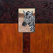 Double Image Paintings - Zebra by Darice Machel McGuire