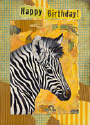 Zebra Paintings - Zebra by Darlene Fletcher
