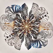 Petals Art Mixed Media - Zebra Flower by Anastasiya Malakhova