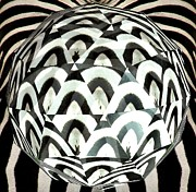 Rose Santuci-Sofranko - Zebra Fur Orb Art
