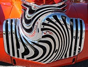 Cars Pyrography Posters - Zebra Grille Poster by Anthony Morris