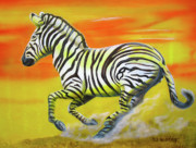 Thomas J Herring - Zebra Kicking up Dust