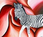 Rejeena Niaz - Zebra - Oil Painting