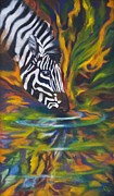 Jungle Animals Paintings - Zebra by Rene