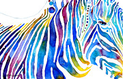 Zebra Stripes Print by Jo Lynch