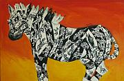 Repetition Paintings - Zebras in Stripes by Cassandra Buckley