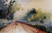 Country Dirt Roads Painting Prints - Zeeland Morning Print by Sandra Strohschein
