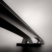 Semi Abstract Metal Prints - Zeelandbrug II Metal Print by David Bowman