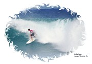 Ezekiel Framed Prints - Zeke Lau - Surfing Artist Framed Print by Scott Cameron