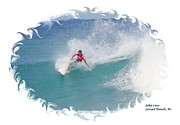 Ezekiel Framed Prints - Zeke Rides a Wave Framed Print by Scott Cameron