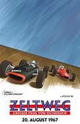 Rally Prints - Zeltweg Austria 1967 Grand Prix Print by Nomad Art And  Design