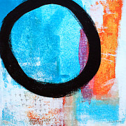 Circle Prints - Zen Abstract #32 Print by Linda Woods