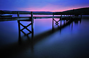 Sunset Photo Metal Prints - Zen at Lake Waramaug Metal Print by Thomas Schoeller