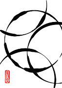 Sumi-e Paintings - Zen Circles by Hakon Soreide
