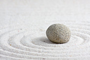 Natural White Sculpture Posters - Zen garden Poster by Shawn Hempel