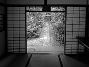 Bamboo House Photo Prints - Zen Garden Walkway Print by Daniel Hagerman