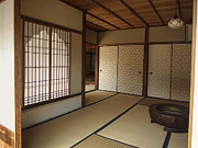 Prayer Warrior Prints - ZEN MEDITATION ROOM and KATOMADO WINDOW - KYOTO JAPAN Print by Daniel Hagerman