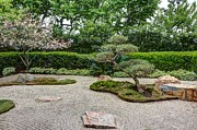 Garden Scene Metal Prints - Zen Rock Garden Metal Print by Heidi Smith