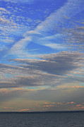 Seacape Metal Prints - Zen Skies Abstract Metal Print by AdSpice Studios