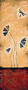 Zen Splendor - Dragonfly Art By Sharon Cummings. Print by Sharon Cummings
