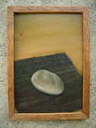 Original Oil Paintings - Zen Stone by Jacqueline Katherine Gomez