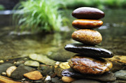 Colorful Photos Prints - Zen Stones Print by Marco Oliveira
