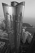 Pusan Prints - Zenith Tower Black and White Print by Tamas Virag