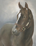 The Horse Pastels Prints - Zenyatta Print by Erica Vojnich
