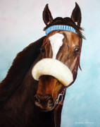 Horse Racing Paintings - Zenyatta  by Jennifer Morrison Godshalk
