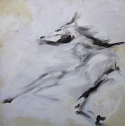 Light Horse Art Painting Originals - Zenyatta by Valerie Freeman