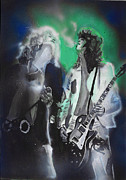 Led Zeppelin Mixed Media Prints - Zep Print by Jacob Logan