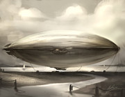 Alex Ruiz Metal Prints - Zeppelin Metal Print by Alex Ruiz