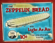 Vintage Sign Framed Prints - Zeppelin Bread Framed Print by Karol  Livote