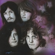 Sixties Framed Prints Posters - Zeppelin Poster by Christian Chapman Art
