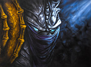 Game Mixed Media Metal Prints - Zeratul Metal Print by Lyubomir Kanelov