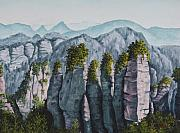National Park Paintings - Zhangjiajie China by Darice Machel McGuire